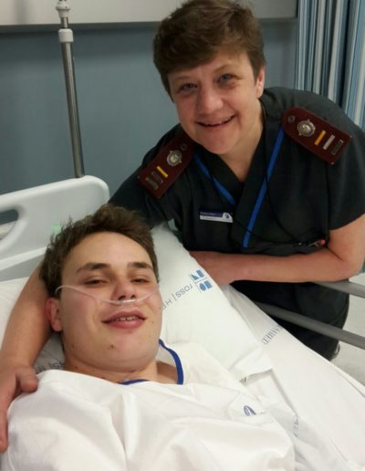Matthew with Vanessa, Surgical ICU 1 Unit Manager.