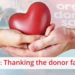 Thanking the donor family