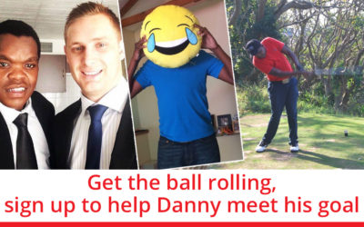 Get the ball rolling, sign up to help Danny meet his goal!